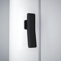 Porta doccia 1 anta fissa + 1 anta scorrevole Neo 180 cm, H 200 cm in vetro, spessore 8 mm trasparente nero