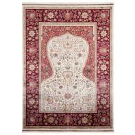 Tappeto Qoum Shah 1 in cotone, beige, 140x200 cm