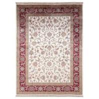 Tappeto Qoum Shah 2 in cotone, beige, 120x180 cm
