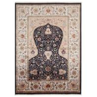 Tappeto Qoum Shah 1 in cotone, blu, 67x110 cm