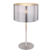 Lampada da tavolo Glamour Silver grigio, in metallo, GLOBO