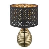 Lampada da tavolo Glamour Mirauea nero, in ceramica, GLOBO
