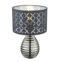 Lampada da tavolo Glamour Mirauea grigio, in metallo, GLOBO