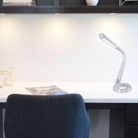 Lampada da scrivania Moderno Mitti grigio