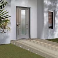 Porta blindata Look grigio L 90 x H 210 cm destra