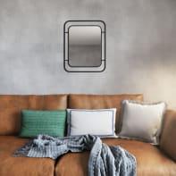 Specchio a parete rettangolare Saona nero 40x50 cm 0 cm INSPIRE