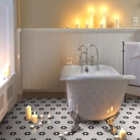 Mosaico Fiore H 30 x L 30 cm bianco