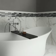 Mosaico Ardesia23 H 30 x L 30 cm nero/argento