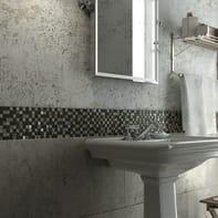 Mosaico Mix Quatz H 30 x L 30 cm bianco/grigio