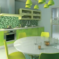 Mosaico Classic mix Green H 32.7 x L 32.7 cm verde
