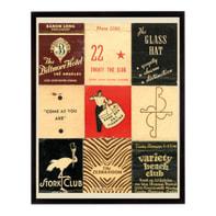 Stampa incorniciata Mathbook Stork 20.7x25.7 cm