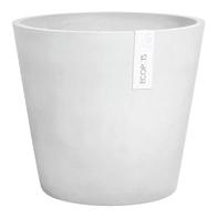 Vaso Amsterdam ECOPOT'S in composito colore white grey H 36 cm, Ø 40 cm