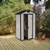 Casetta da giardino in polipropilene Lineus 4x3,  superficie interna 0.98 m² e spessore parete 16 mm