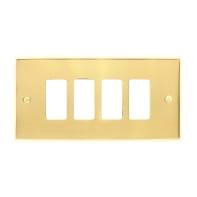 Placca CAL Magic 4 moduli ottone lucido ottone compatibile con magic