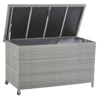 Baule da esterno NATERIAL in alluminio grigio 120 x 60 cm