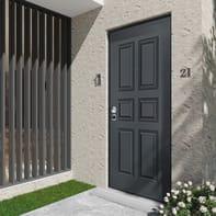 Porta blindata Maxima grigio antracite L 90 x H 210 cm destra