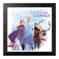 Quadro con cornice Frozen II 36x46 cm 2 pezzi