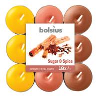 Tealight BOLSIUS essenza zucchero e spezie  Ø 19.5 cm H 3 cm, 18 pezzi