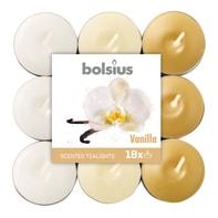 Tealight BOLSIUS essenza vaniglia  Ø 19.5 cm H 3 cm, 18 pezzi