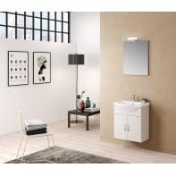 Mobile bagno Jolly bianco frassinato L 54 cm