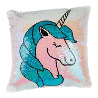 Cuscino Unicorno multicolor 40x40 cm