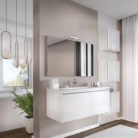 Set mobile da bagno con lavabo Cielo bianco L 100 cm