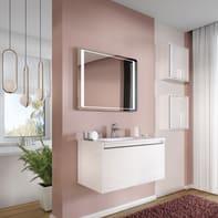Set mobile da bagno con lavabo Cielo bianco opaco L 80 cm