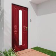 Porta blindata Mirror rosso L 80 x H 210 cm sinistra