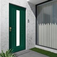 Porta blindata Mirror verde L 90 x H 210 cm destra