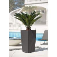 Vaso Cubico Cottage LECHUZA in plastica colore grigio H 75 cm, L 40 x P 40 cm