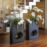 Vaso in plastica colore antracite H 75 cm, L 50 x P 26 cm