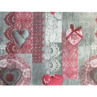 Tappeto Floor romantic , grigio, 50x230 cm