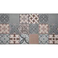 Tappeto Floor piastrella , multicolor, 50x180 cm