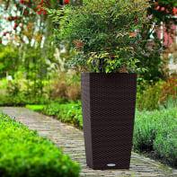 Vaso Cubico Cottage LECHUZA in plastica colore marrone H 75 cm, L 40 x P 40 cm