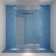 Mosaico H 30 x L 30 cm blu/azzurro