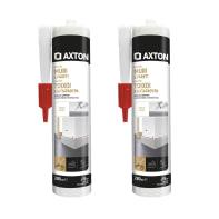 Silicone sigillante AXTON Muri e Pareti Bipack bianco 560 ml