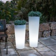 Lampada da esterno Vaso illuminato H80cm, in plastica, luce bianco freddo, E27 650LM IP65 NEWGARDEN