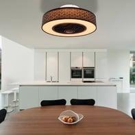Ventilatore da soffitto LED integrato Rosario pale a scomparsa, bianco, con telecomando