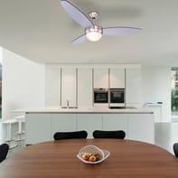Ventilatore da soffitto Ventilatore Cordula, argento/nero