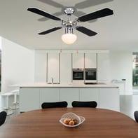 Ventilatore da soffitto Ventilatore Rivaldo, nero