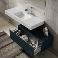 Set mobile da bagno con lavabo Element blu navy L 100 cm