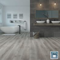 Pavimento laminato H2O Dark Grey Sp 8 mm nero