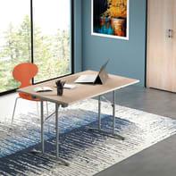 Tavolo pieghevole L 125 x H 75 x effetto rovere naturale