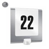 Applique L 220 LED integrato con sensore di movimento, in plastica, acciaio, 7.5W 550LM IP44 STEINEL