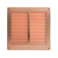 Griglia di aerazione in rame forma quadrato L 24 x H 24 cm