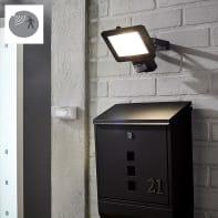Proiettore LED integrato con sensore di movimento Yonkers in alluminio, nero, 30W 1950LM IP44 INSPIRE