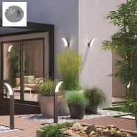 Applique Lakko LED integrato con sensore di movimento, in alluminio, grigio, 11.0W 1500LM IP44 INSPIRE