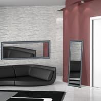 Specchio a parete rettangolare Sibilla argento<multisep/>nero
