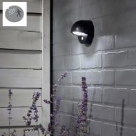 Applique Kalao LED in plastica nero 11W 100LM IP44 INSPIRE