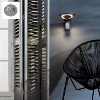 Applique Solana LED integrato in plastica antracite 3.2W 315LM IP44 INSPIRE